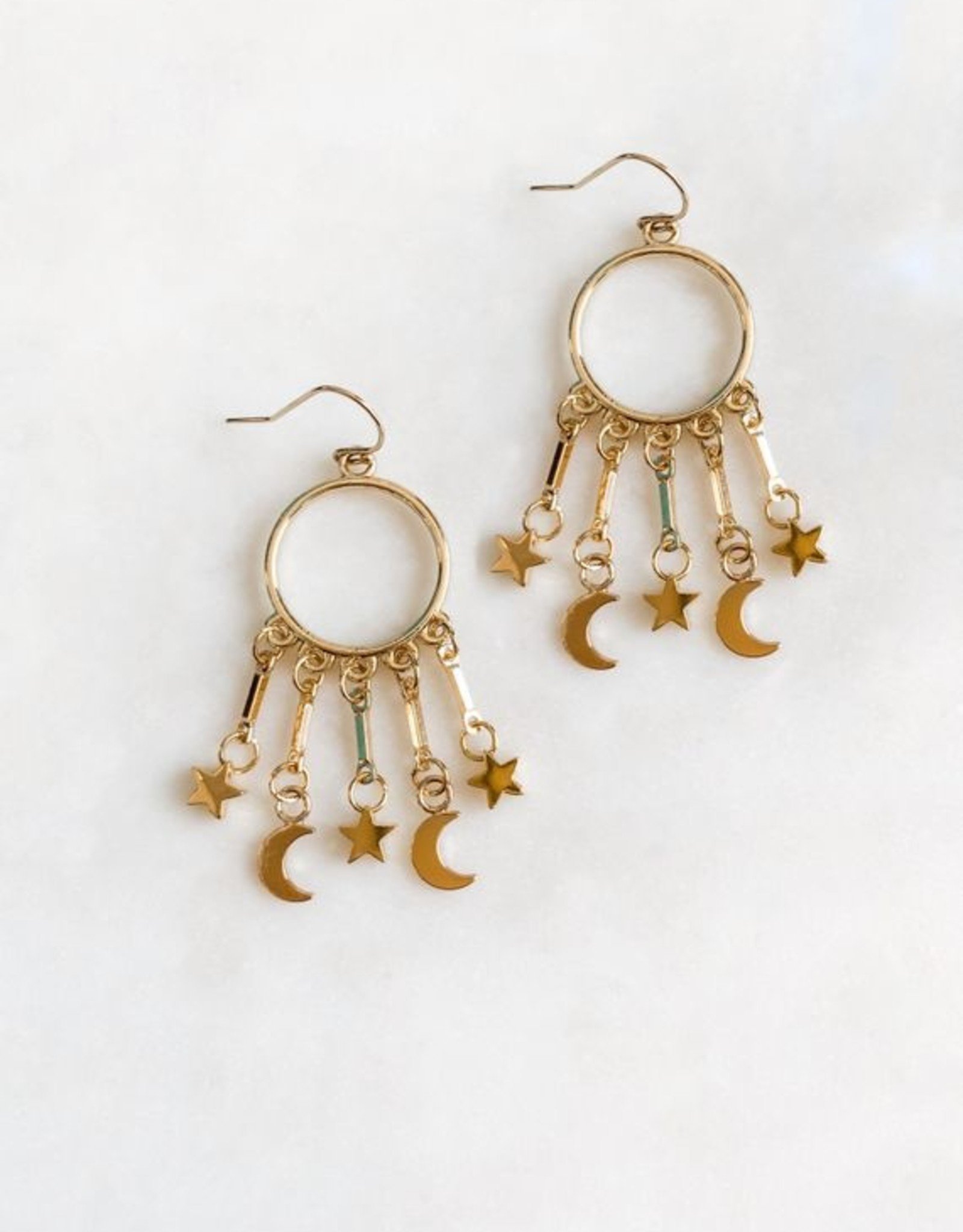 Pretty Eclectic *Star and Moon Earrings