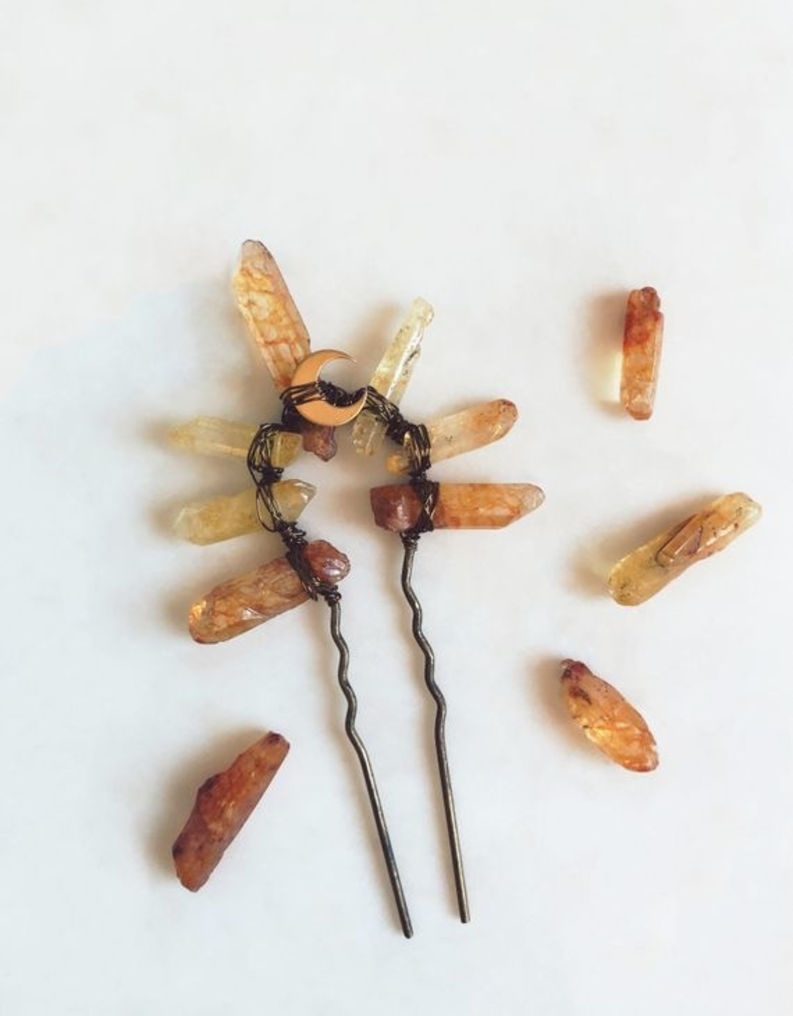 Pretty Eclectic Amber Afterglow Hair Fork
