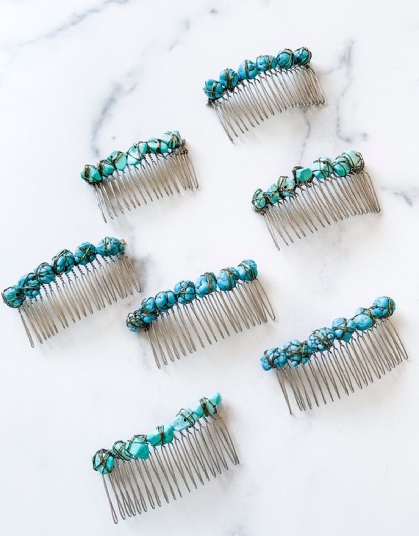 Pretty Eclectic Turquoise Hair Comb
