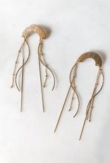 Pretty Eclectic *Jellyfish - Chain Tassel Arch Earrings