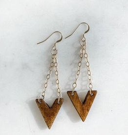 Pretty Eclectic V Bone Earrings