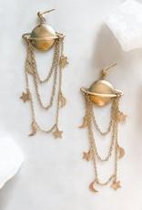 Pretty Eclectic Saturn Earrings