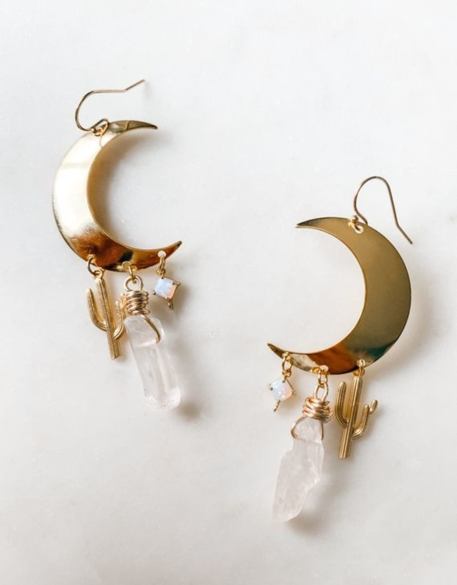 Pretty Eclectic Desert Magic - Crescent Moon Earrings