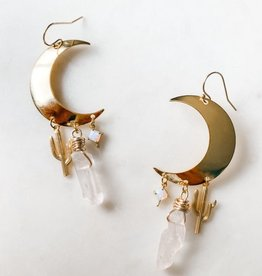 Pretty Eclectic Desert Magic - Crescent Moon Earrings