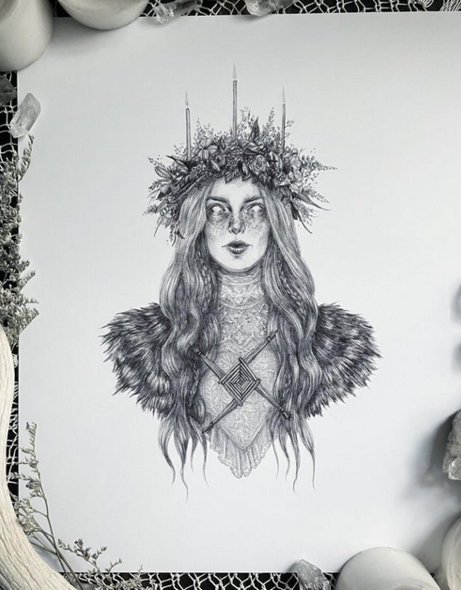 Caitlin McCarthy Art Brigid Print 5x7
