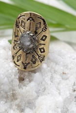 Dynamo Boho Adjustable Ring Ring Moonstone Moonstone Ring Raw Stone