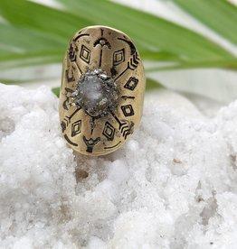 Dynamo Boho Adjustable Ring Moonstone Ring Raw Stone