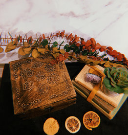 New Age Imports, Inc. Seven Chakra Carved Wood Box
