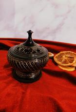 New Age Imports, Inc. Black Carved Brass Burner