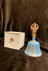"New Age Imports, Inc. Sea Blue ""Throat Chakra"" Tibetan Bell"