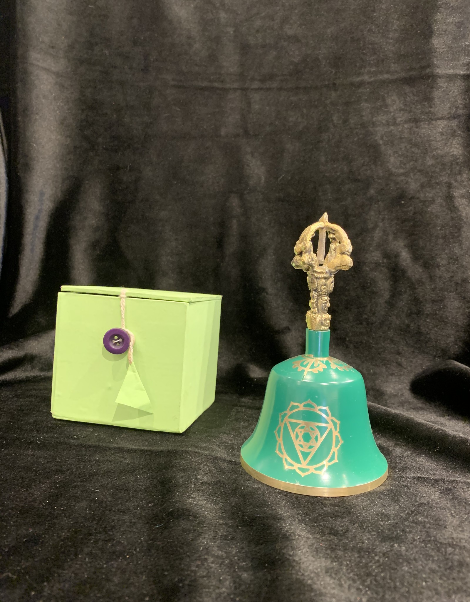 "New Age Imports, Inc. Green ""Heart Chakra"" Tibetan Bell"