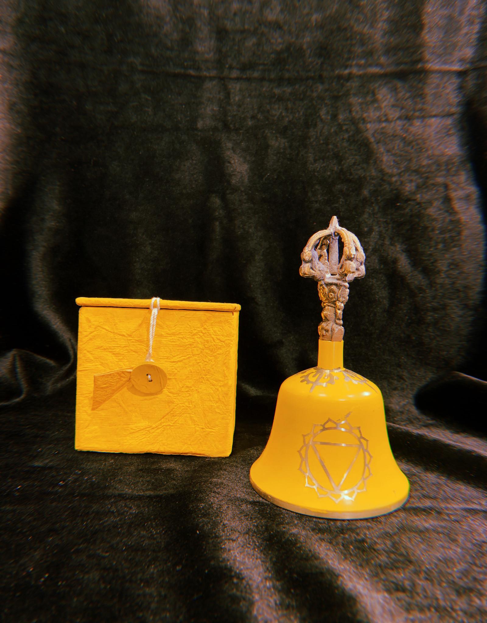 "New Age Imports, Inc. Yellow ""Solar Plexus"" Tibetan Bell"