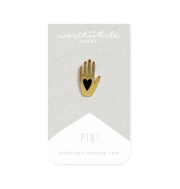 *Worthwhile Paper Hand + Heart Pin