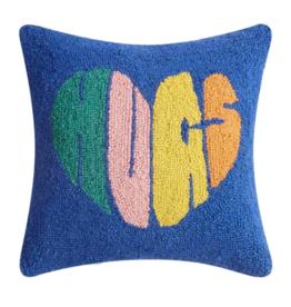 Peking Handicraft Hugs Heart Hook Pillow