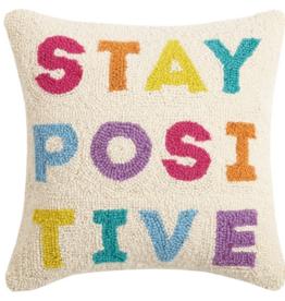Peking Handicraft Stay Positive Hook Pillow
