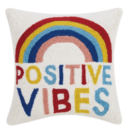 Peking Handicraft Positive Vibes Hook Pillow