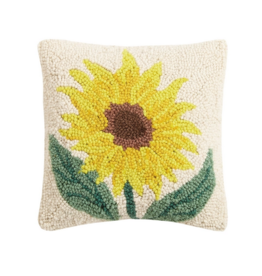 Peking Handicraft Sunflower Hook Pillow