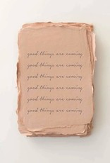 """*Paper Baristas """"Good things are coming."""" Encouragement Card"""