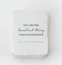"""Paper Baristas *""""You are the loveliest thing I have ever known"""" Love Card"""