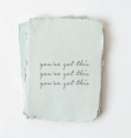 "*Paper Baristas *""You've Got This."" Encouragement Card"