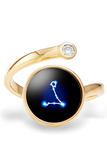 Moonglow Astral Cosmic Ring - Gold