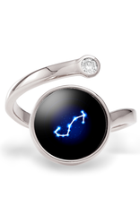 Moonglow Astral Cosmic Ring - Silver