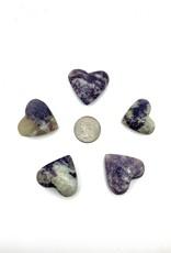 Minec Lepidolite Heart