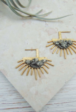 Dynamo Simple Statement Earrings Sparkly Gold