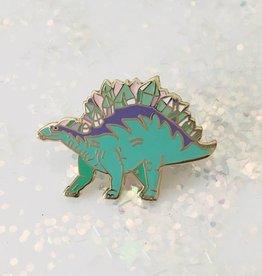 Wildflower + Co Crystal Stegosaurus Dinosaur Enamel Pin