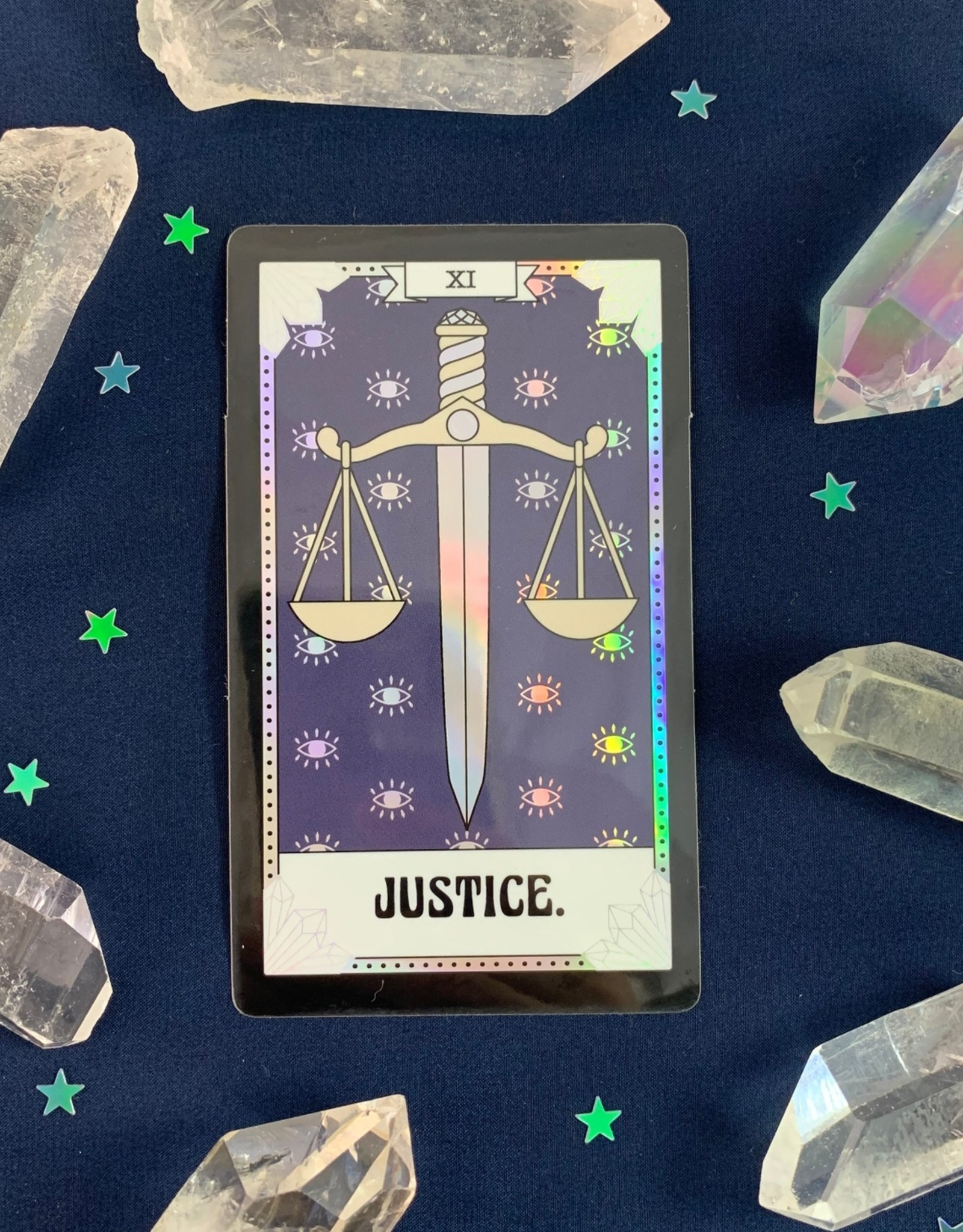 Wildflower + Co *Tarot Card Sticker - Justice