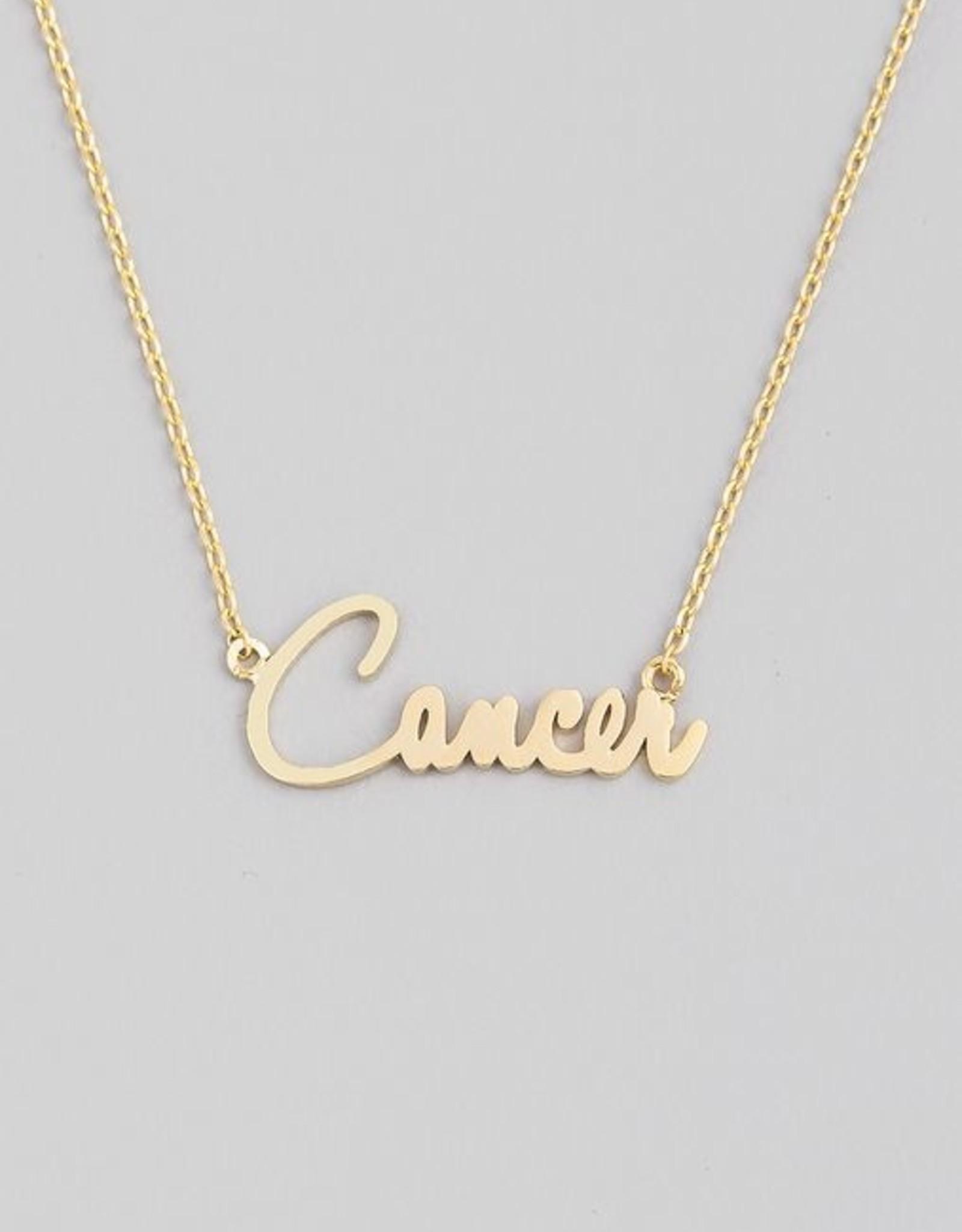 Fame Accessories Handwritten Zodiac Necklace - Cancer