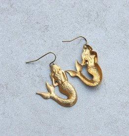 daniAWESOME *Brass Mermaids Earrings