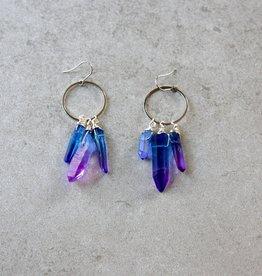 daniAWESOME Elemental Quartz Cluster Earrings - Water