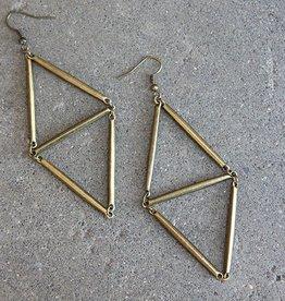 daniAWESOME *Geometric Brass Drop Earrings