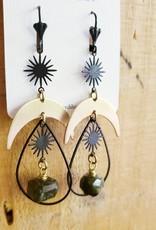 Verdilune Apogee - Celestial Mixed Metal & Gemstone Earrings