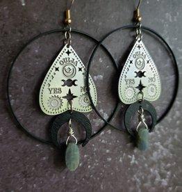 Verdilune Ouija - Mixed Metal & Gemstone Earrings