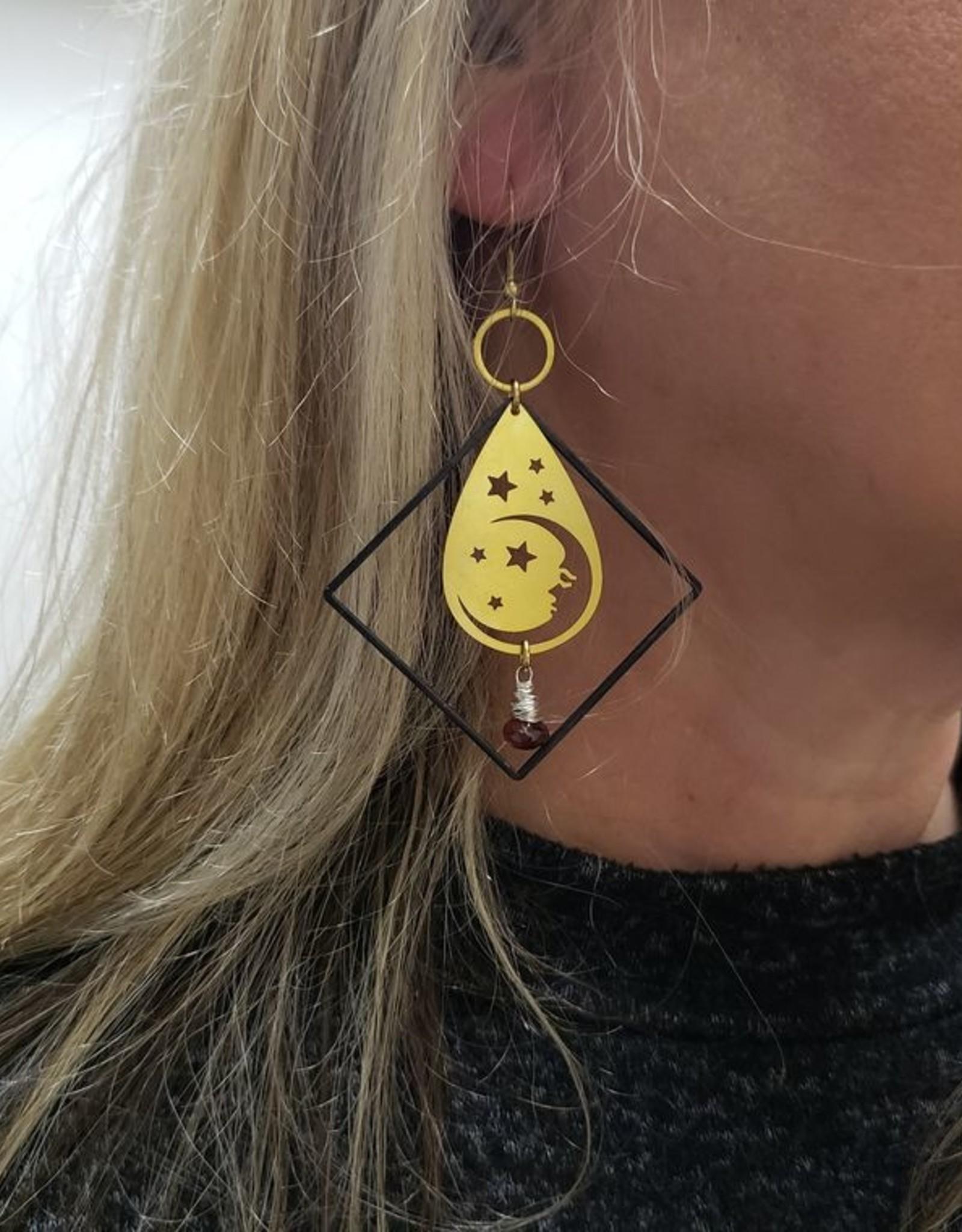 Verdilune Twinkle - Mixed Metal & Gemstone Earrings