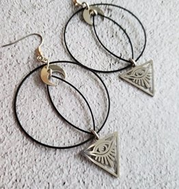 Verdilune Illuminati - Mixed Metal Celestial Earrings