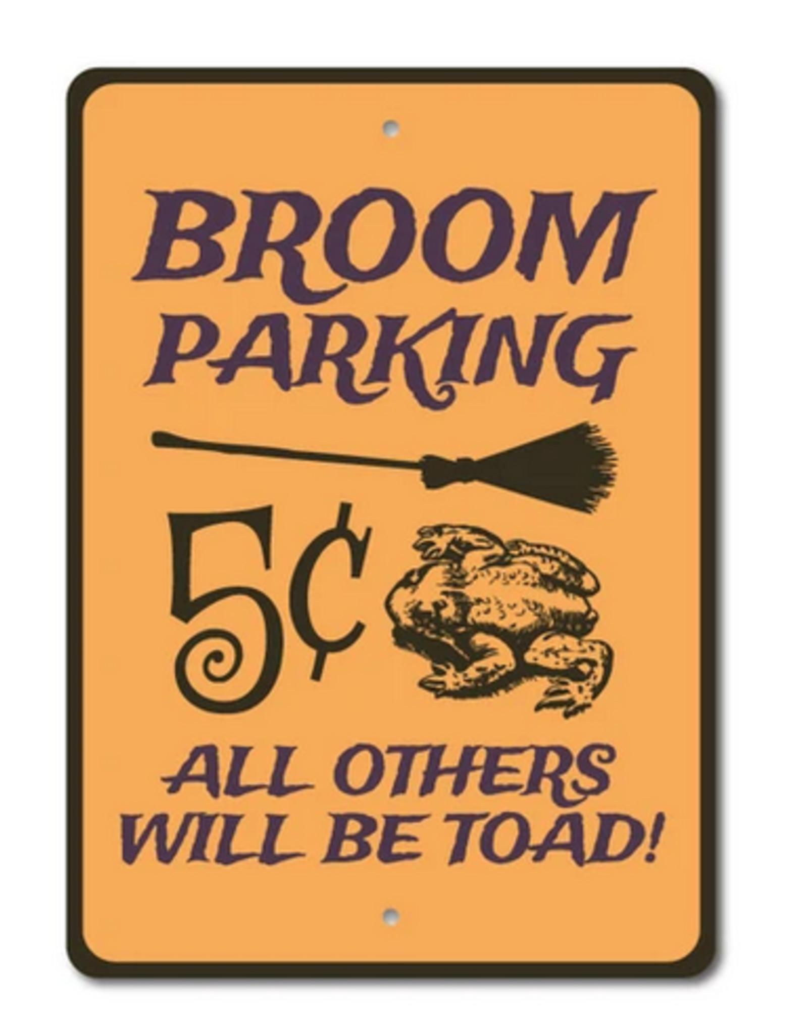 Lizton Sign Shop Broom Parking Sign - 10x14 inches*