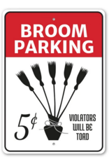 Lizton Sign Shop *Broom Parking Witch Sign - 10x14 inches