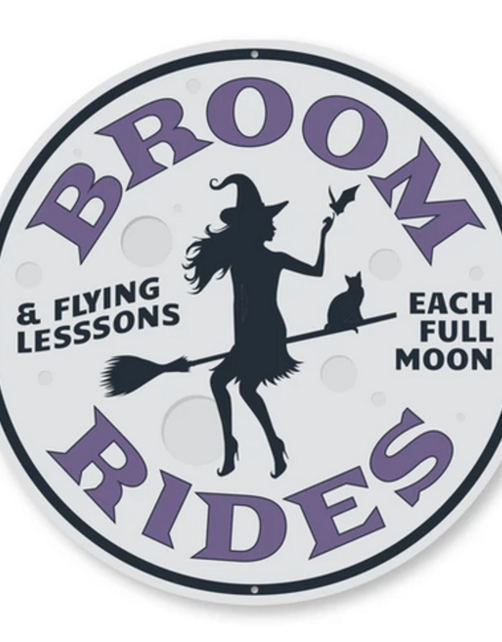 Lizton Sign Shop *Broom Rides & Flying Lesson - 12 inches