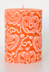 Alo Candles Orange Halloween Pumpkin Pattern Candle - Small