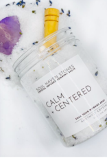 Soul Haven Stones Crystal Infused Soaking Salts- Calm+Centered