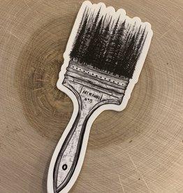 Kaari + Co *Forested Paintbrush Vinyl Sticker