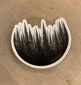Kaari + Co *Treescape Circle Vinyl Sticker