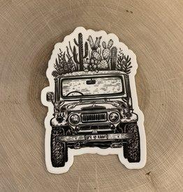 Kaari + Co Cacti Jeep Vinyl Sticker
