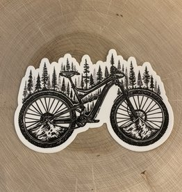 Kaari + Co Forested Bicycle Vinyl Sticker