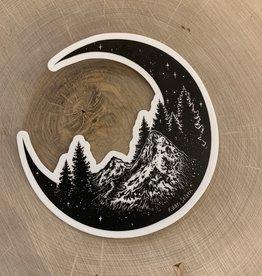 Kaari + Co Mountain Moon Vinyl Sticker