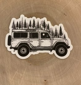 Kaari + Co Forested Jeep Vinyl Sticker