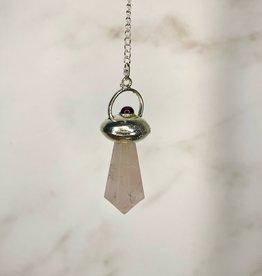 Capstone Esoterica Rose Quartz and Garnet Pendulum